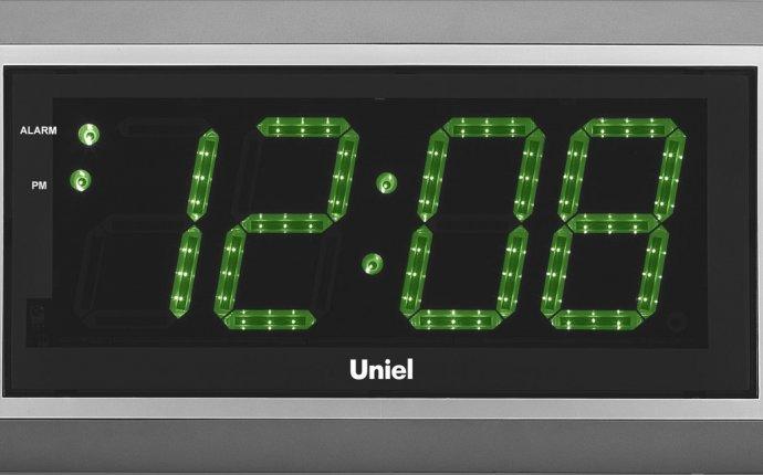 Настенные часы с электронным